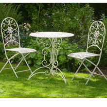 vinage iron cream white out door furniture garden