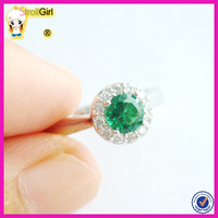 925 solid silver ring with a green stone wedding engagement ring macys plating platinum ring price