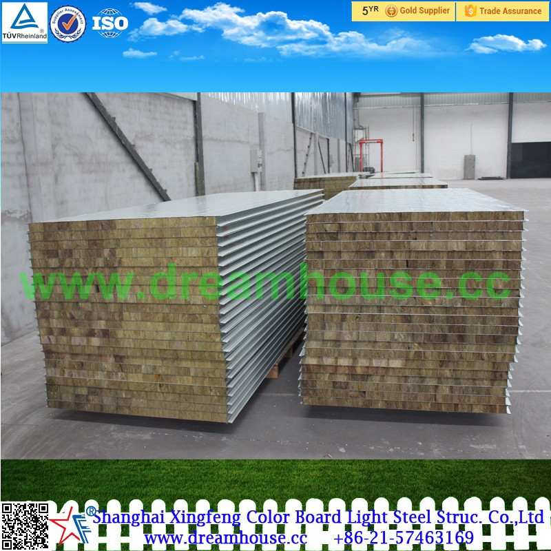 Rockwool Insulation Panel Wall Sandwich Panel Rockwool