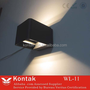 hot sales double head emitting led wall pack 6w/12w in alunminum shell factory directly