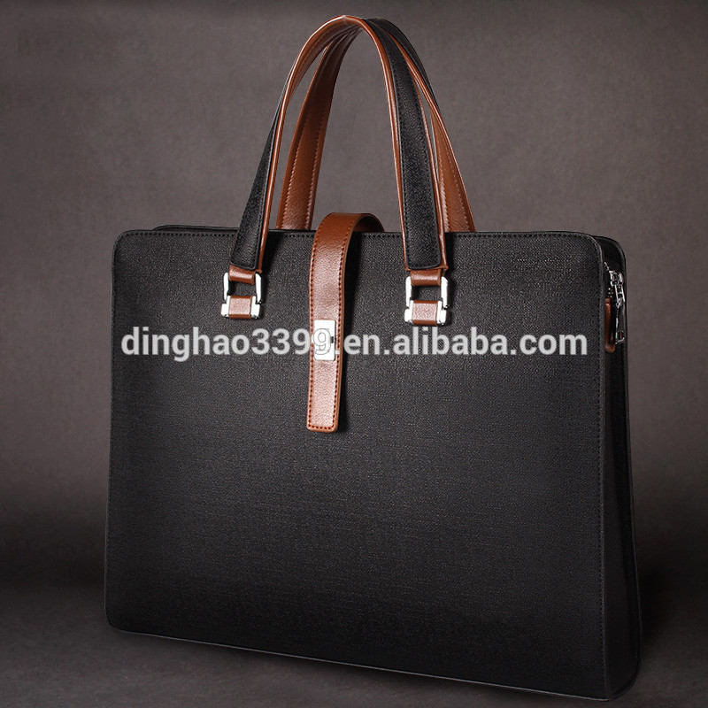 New Style Men's Business Bag,2015 Luxury Polo Leather Men Bag ...