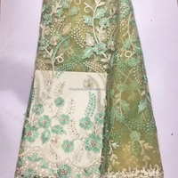 Wholesale embroidery chantilly lace fabric in dubai for bridal wedding dress