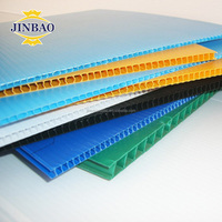 JINBAO 2-6mm insulation pp corrugated plastic hollow sheet yard signs board