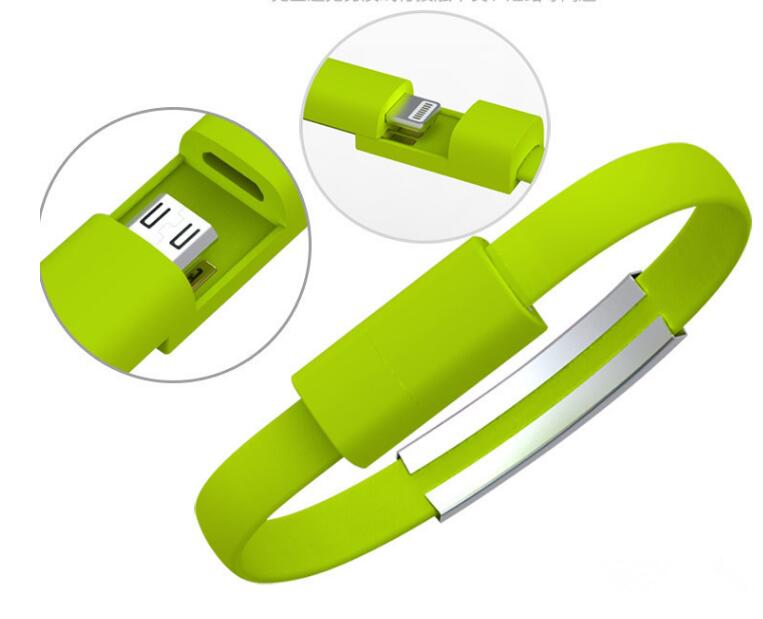 Wholesale Promotional Cheap Silicone USB Cable Bracelet For Mobile Phone