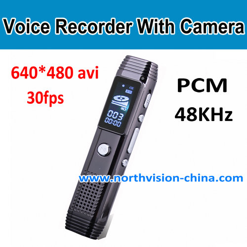 8GB Digital Voice Recorder With Camera, 720P for video, PCM for Audio