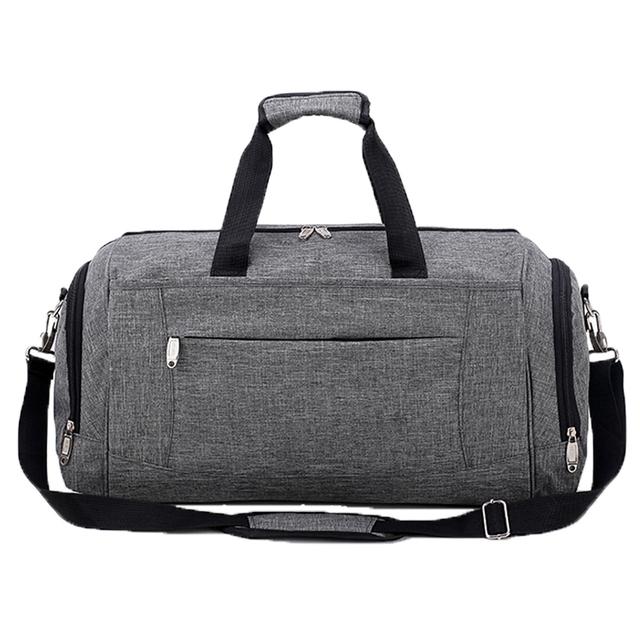 b2293d9dd2 Nylon luggage folding tote storage duffle organizer sports gym rolling long luggage  duffel bag foldable men