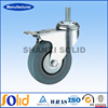 Grey PVC Caster Wheel/Truckle (grey rubber caster)