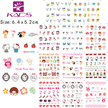 BLE1962 1972 lovely cat kitty Hedgehog Personalized letters design nail water decal transfer for english letters