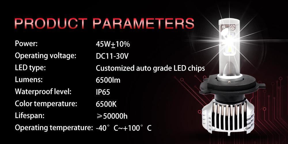 Zhuhai zhengyuan  new latest design auto car led headlamp 100% factory car p9 P12 led h4 osram lights V5 type h4 led headlight