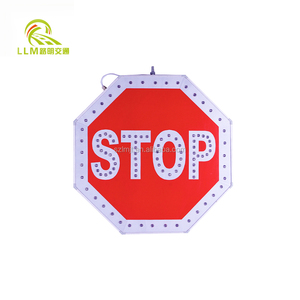 high visibile reflective road traffic sign, traffic signal for safety