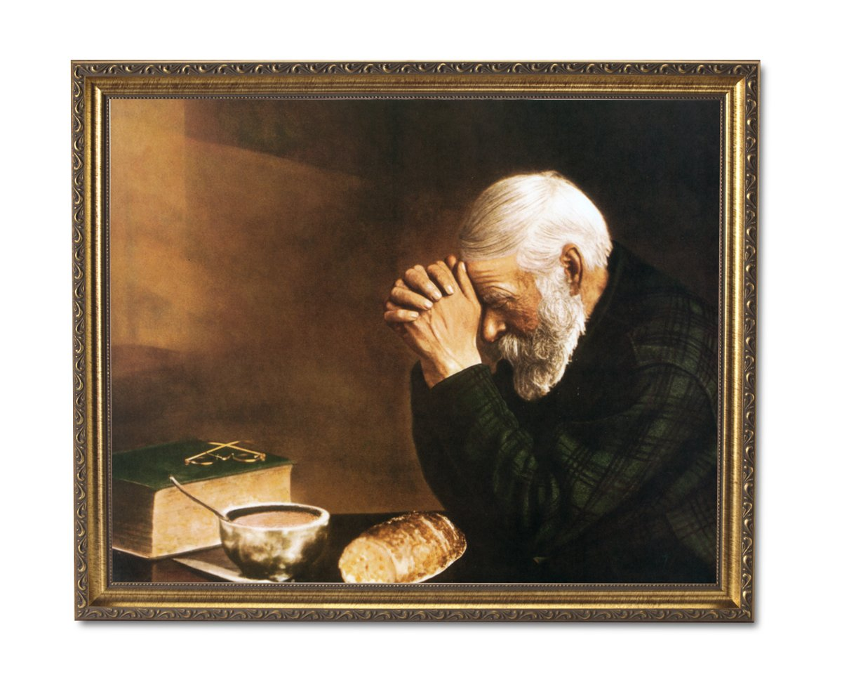 Buy Gratitude Old Lady Praying At Dinner Table Daily Bread Woman