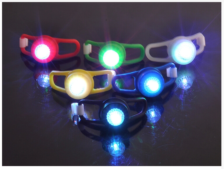 Button Battery Operated Bicycle Safety Light Silicon Mini Led ...