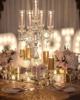 new products glass hurricane 5 arms crystal pedestal candelabra wedding centerpiece
