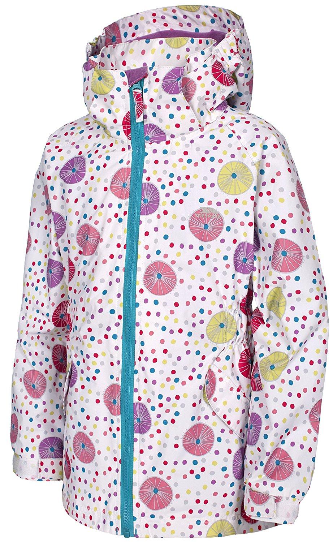 15b1aafabc79 Trespass Fairies Kids Waterproof Hooded Rain Coat Girls School Jacket