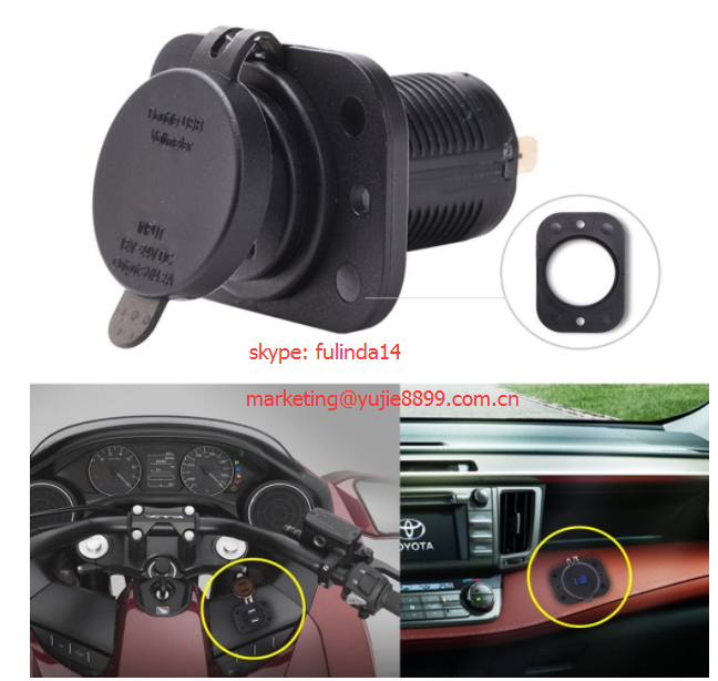 Waterproof Universal Rocker Style 2 1a Car Usb Charger With 3 5mm Aux Jack  Blue - Buy Universal Rocker Style 2 1a Car Usb Charger,Usb Charger With