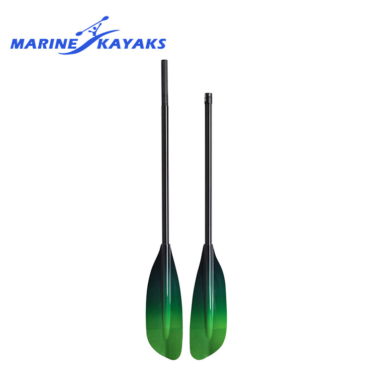 Atacado Ultraleve 2 Seções Carbono Transparente Bent Shaft Kayak Paddle Para Venda