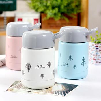 300ML Candy Color Food Soup Thermos free Stainless Steel Vacuum Thermos Lunch Box for Kids