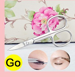3.62 Inch Stainless Steel Face Moustache Nose Hair Scissors With Safety Tip In Mirror Plated