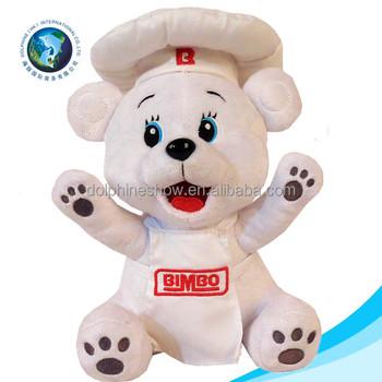717a3f70acd Cheap personalized white teddy bear toy with chef uniform wholesale cute  custom logo stuffed plush soft