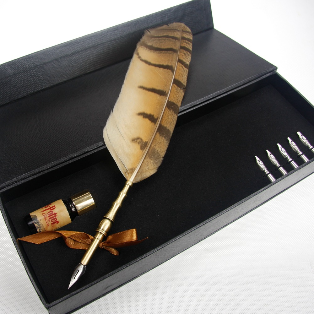 Christmas quill owl Feather Pen for promotion