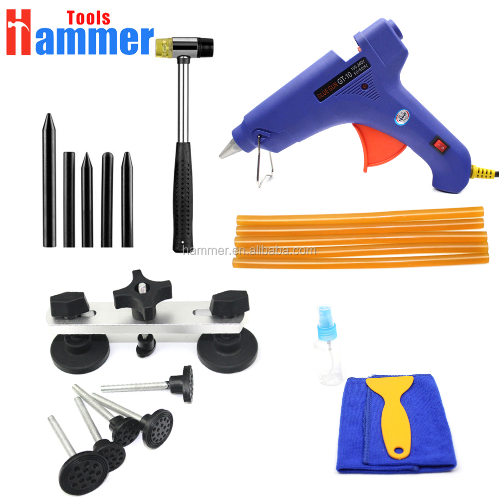 Paintless Dent Repair Tools Kit Pulling Bridge Glue Gun High Quality Car Dent Removal Tools <strong>Set</strong>