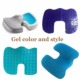 Cooling Contoured Car Backbone Hip Pain Seat Cushion Memory Cotton Gel Foam Orthopedic Driver Silicone Seat Cushion