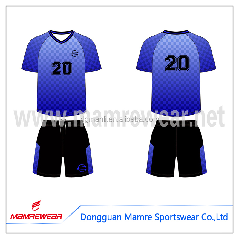 Club de football maillots usine de sport jeux de football polyester football uniforme