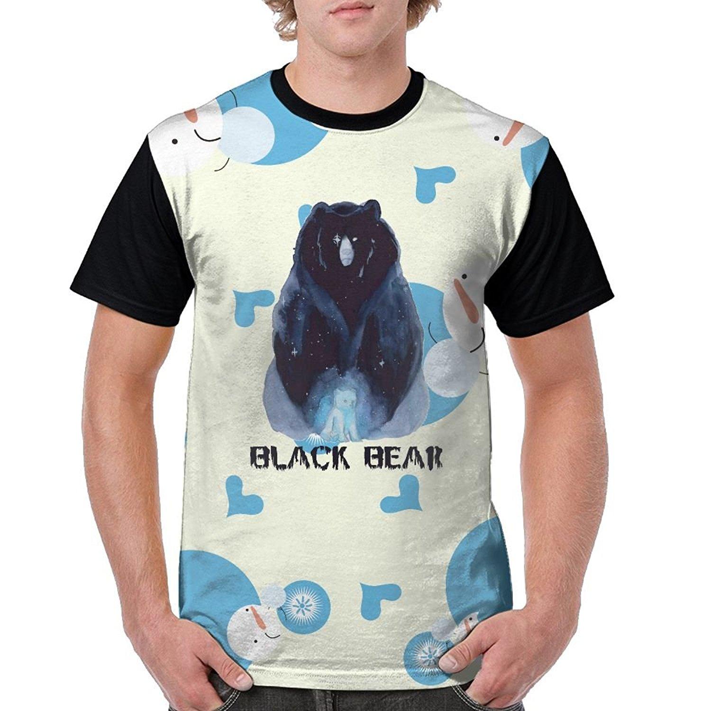 663001eeb Get Quotations · SU8h Shirts Dope Black Bear Men's 3D Print Crew Neck  Classic Short-Sleeve T-