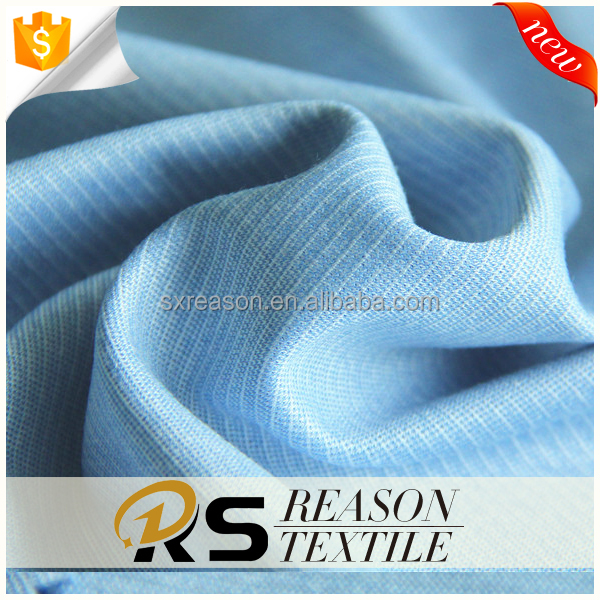 Factory directly sale rayon polyester slub knit jersey fabric garment twill fabric