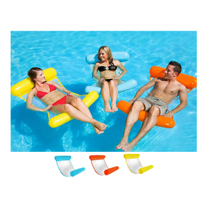 Water Lounger Hammock Pool Float Inflatable Rafts Swimming Pool Air Lightweight Floating Chair Portable Floating Hammock