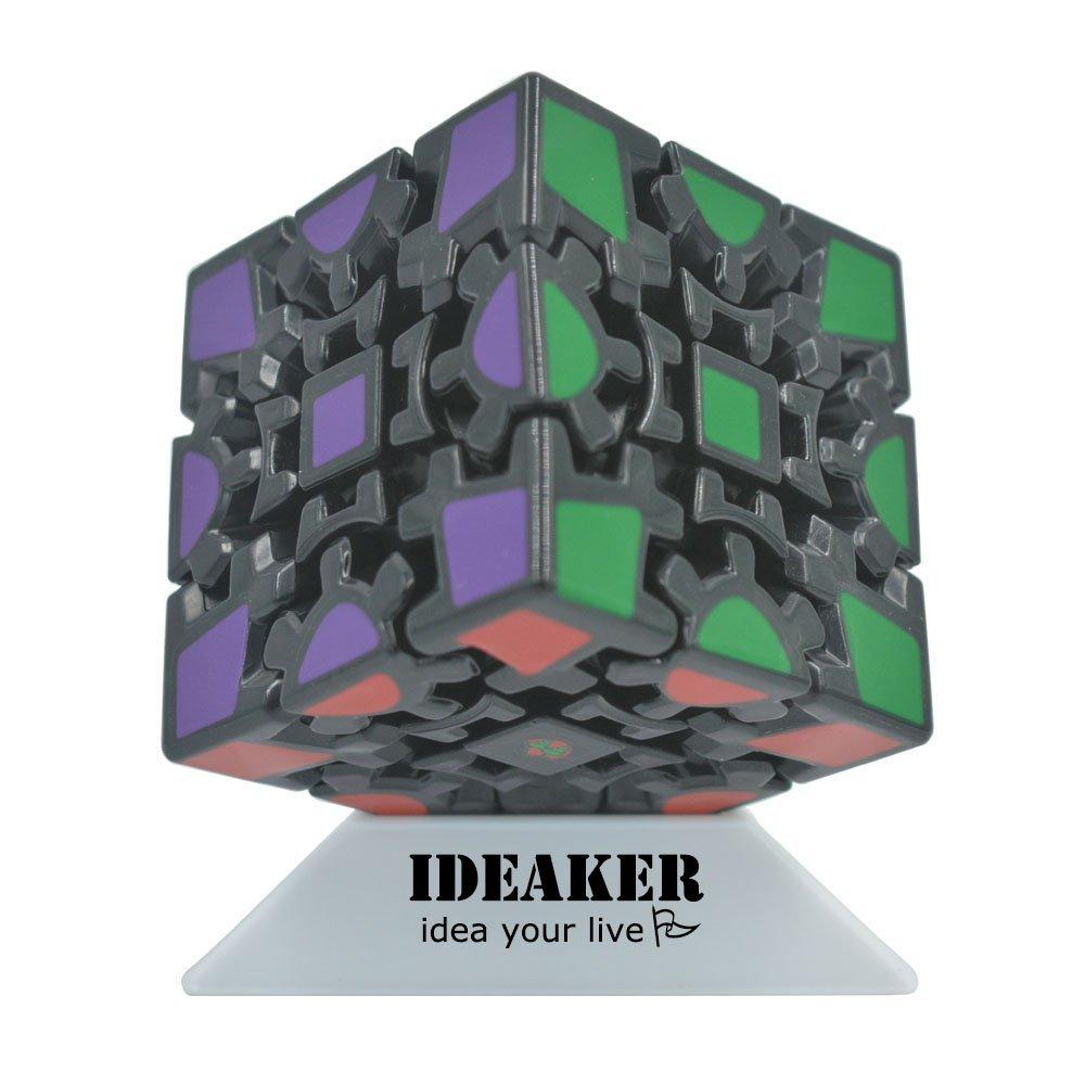 Puzzle Cube, Ideaker 3D Gear Cube Magic Cube Puzzle Cube 1st Gen Black (60mm x 60mm)