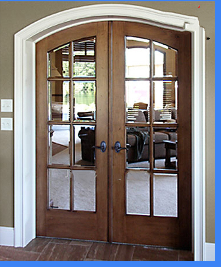 solid wood laminted door arch wood glass door interior