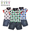 Wholesale 2017 New Child Clothes Fashion Boys Shirts And Pants Set Summer