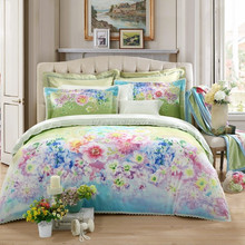 100% polyester pigment printed flower design changxing textile Fabric for bedding