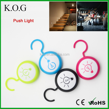 Home Decorative Mini LED Push Light for Cabinet Closet Warehouse