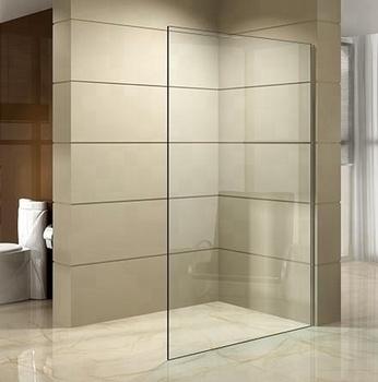 Bathrom Shower Door One Piece Simple Tempered Glass Shower Screen