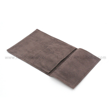 Eco-friendly promotional environmentally gift black suede pouch
