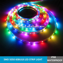 Individually addressable digital ws2812b ws2811 led flexible strip rope light rgb with ic control led strip light