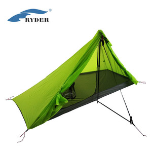 Double Siliconized Nylon Camping Hiking Ultralight Trekking Pole Tent Single Person Solo Bivvy Solution Super Compact High End