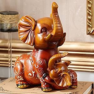 W&P Office of European creativity an elephant animal ornaments resin ornament wedding imitation mahogany Feng Shui gifts