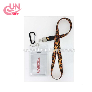 Waterproof cruise travel ID card credit card and key chain luxury lanyard leopard lanyard