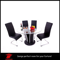 Health collectible hand carved cheap round dining table and chairs