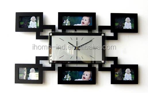 Mdf Marco De Fotos Reloj De Pared Moderno Para La Decoración Casera ...