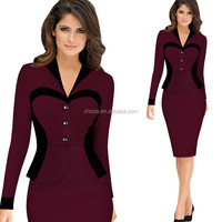 C72637A Ladies Official Dress ladies modern dress