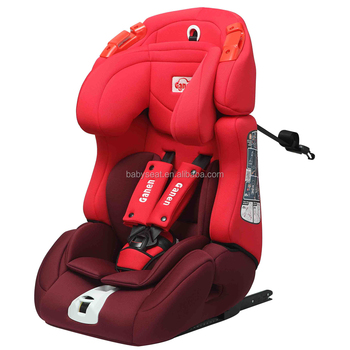 New Racing Style Isofix Fabric Adjustable Car Seat Baby Booster With Group 1 2