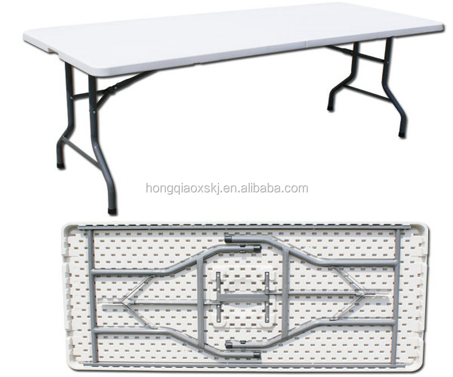plastic space saving folding table/5 feet catering banquet table