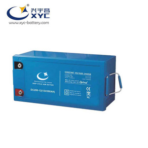 Deep cycle rechargeable battery for UPS solar system golf carts e-bike batteries 12v 200ah