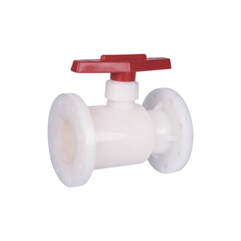 China PVDF PVC Plastic Bodily Form Double Flange Type Ball Valve