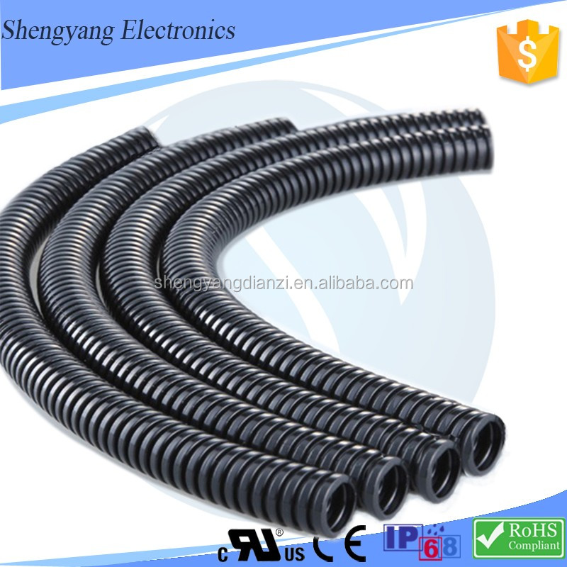 SY Chinese Supplier Electrical Wiring Pipe Plastics Prices Of Polyamide Pa66 /Nylon 66 Per Kg Nylon Corrugated Pipe