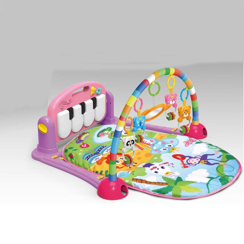 Baby Play Mat Gym Fitness Music Lights Fun Piano Boy Girl Rack Early Education